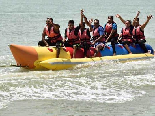 Fun Banana Boat Water Ride at Port Dickson