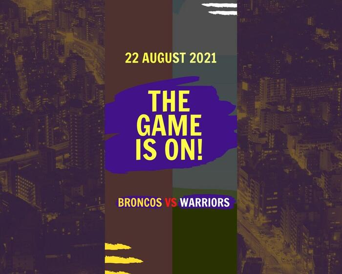 Promotional poster of 'Game is on' at George Williams Hotel