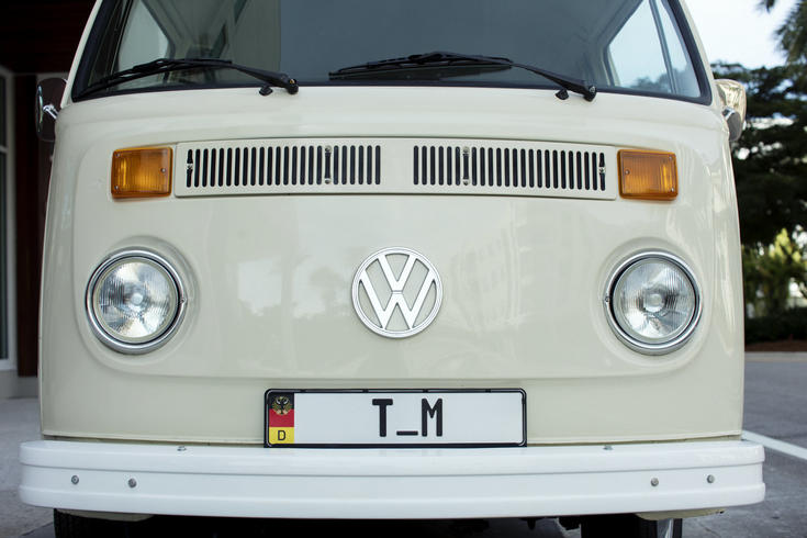 Front of volkswagen bus