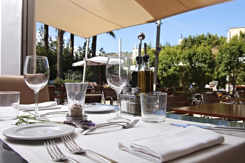 Restaurante del Hotel Aimia en Port de Sóller, Mallorca