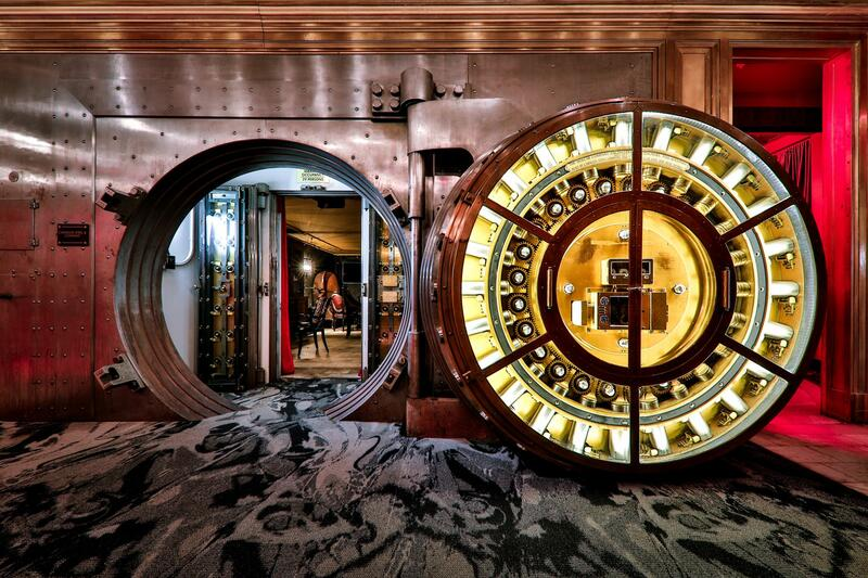 Entrance to the Vault, a premium bar and speakeasy
