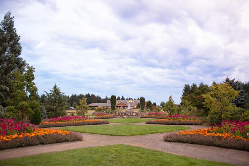 Photo of garden in front of resort