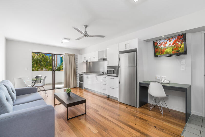 One Bedroom Suite - Living Room - Essence Apartments Chermside