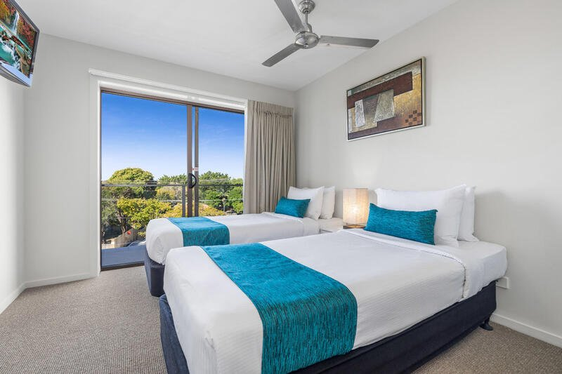 Two Bedroom Studio | Twin Beds | Serviced Apartments Brisbane |