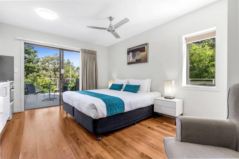 Studio Balcony | Serviced Apartments Brisbane | Essence Apartmen