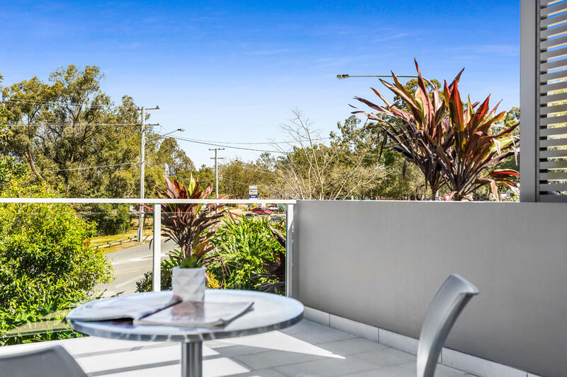 Studio Balcony | Balcony View | Serviced Apartments Brisbane | E