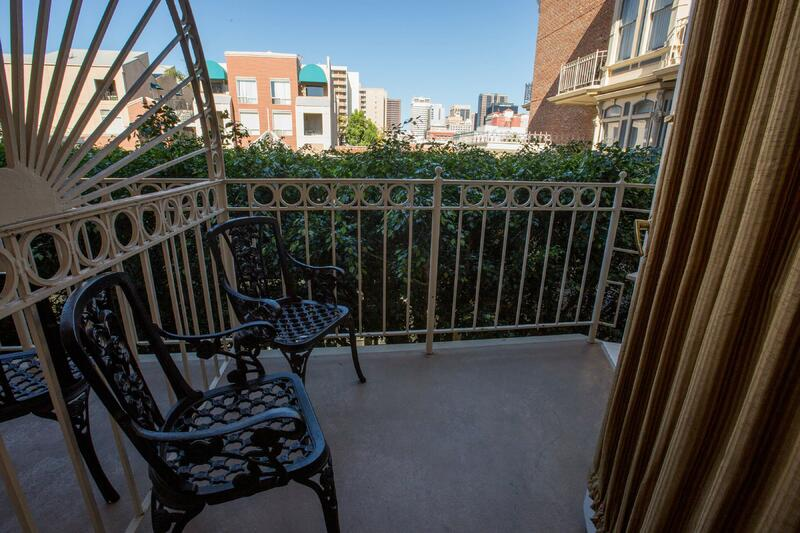 Balcony with two chairs