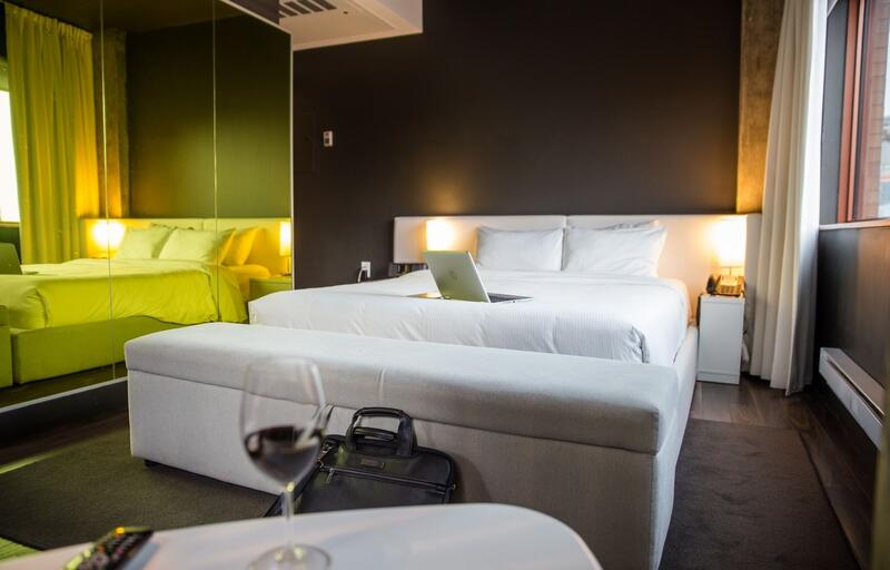 Hotel ZERO1 Room Interior with Queen Bed
