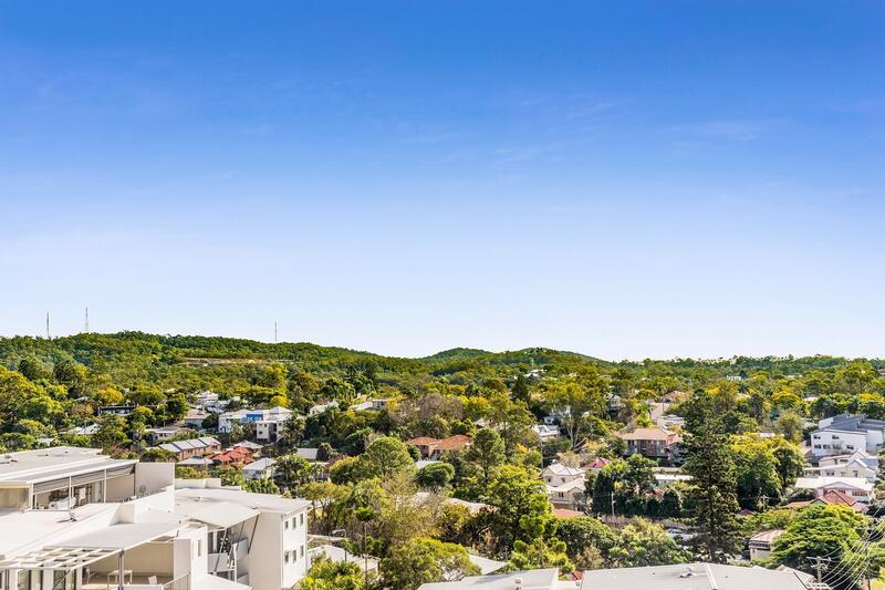 Sweeping views across Brisbane CBD to Mount Coot-tha.
