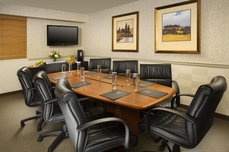 Conference table in a meeting room