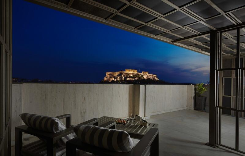 Terrace Night View NJV Athens Plaza