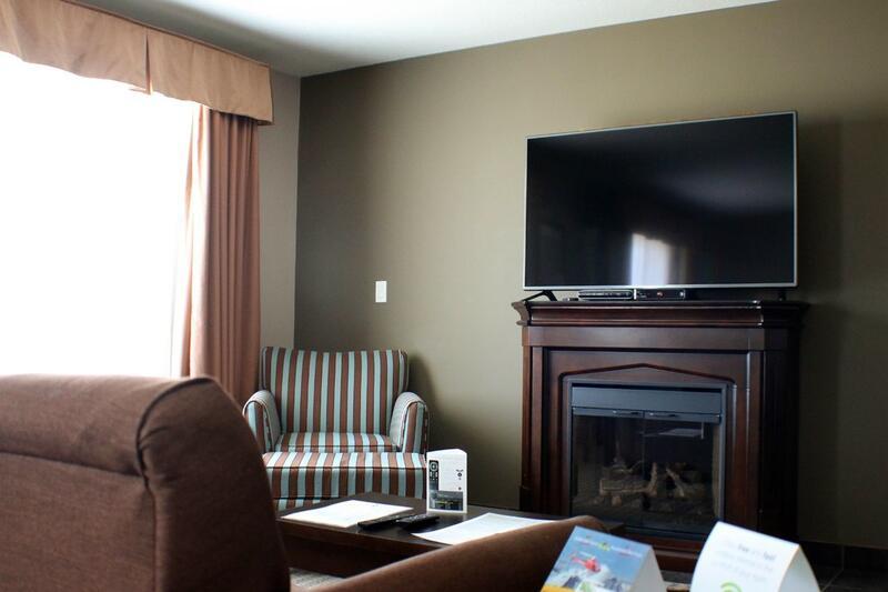 TV on mantel