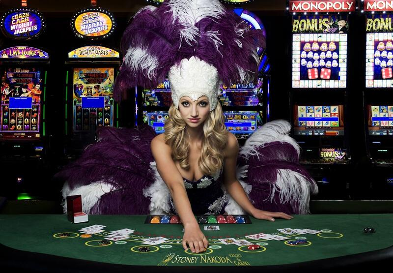 Woman at casino table