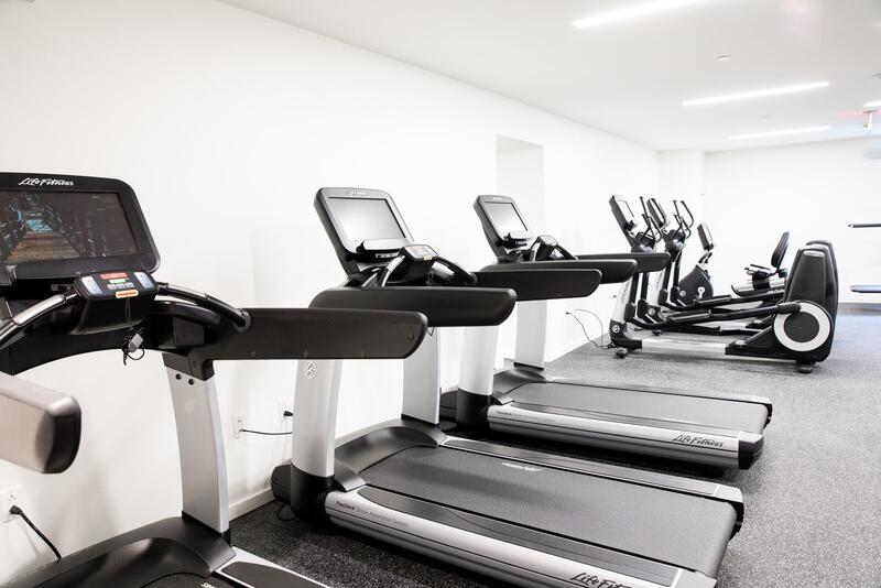 Treadmills in fitness center