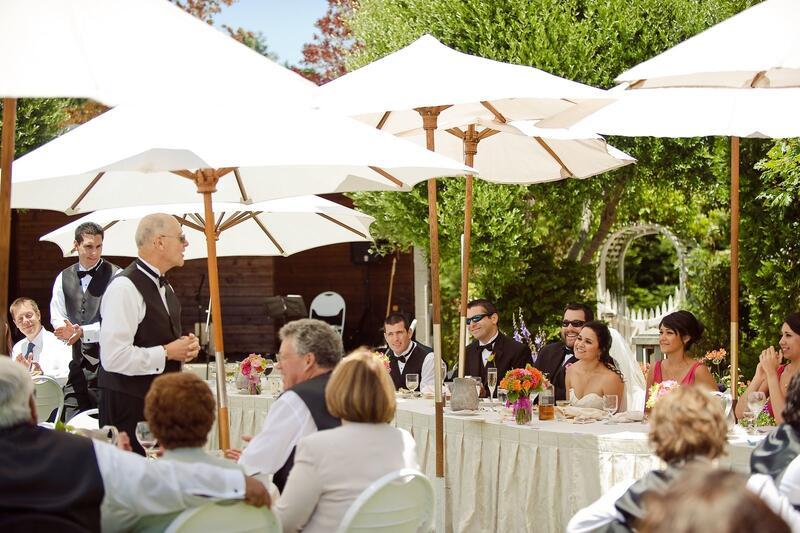 Man making a speech at a wedding