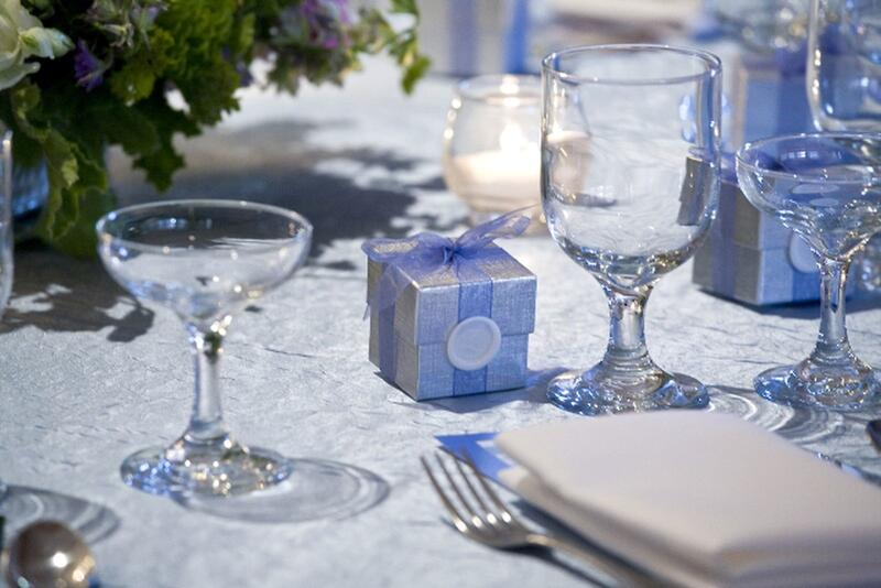 Wedding table with silverware
