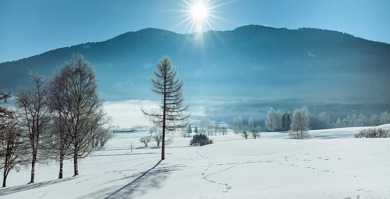 Winterlandschaft im Schloss Pichlarn