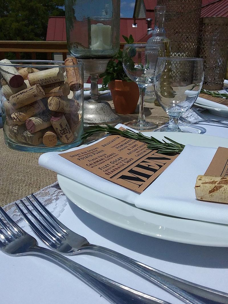 Close photo of forks and a menu