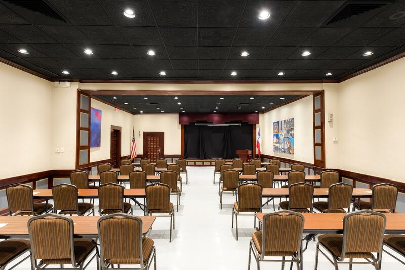 Event space set classroom style