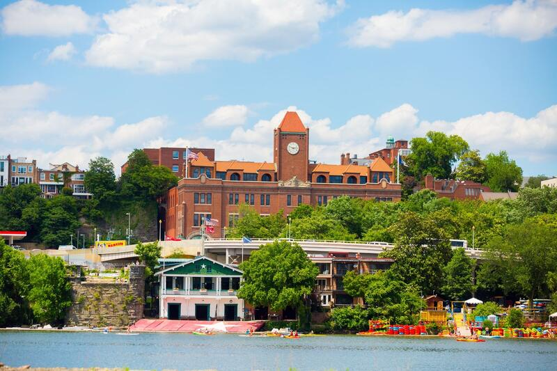 georgetown university campus and body of water