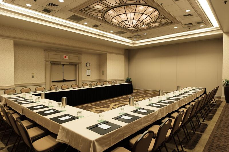 conference room with u shaped table