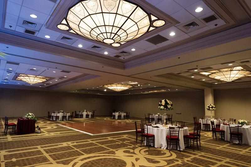 ballroom with tables and dance floor