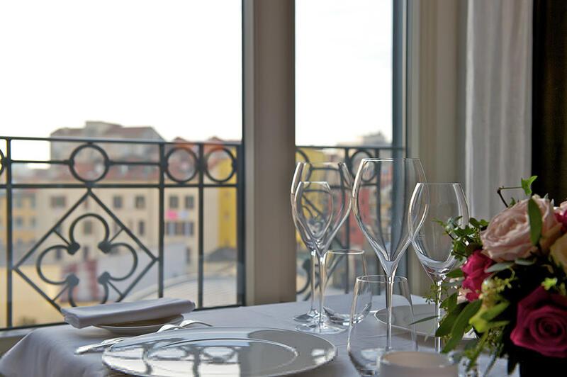Restaurant at Grand Visconti Palace in Milan
