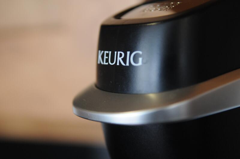 Close photo of Keurig coffee maker