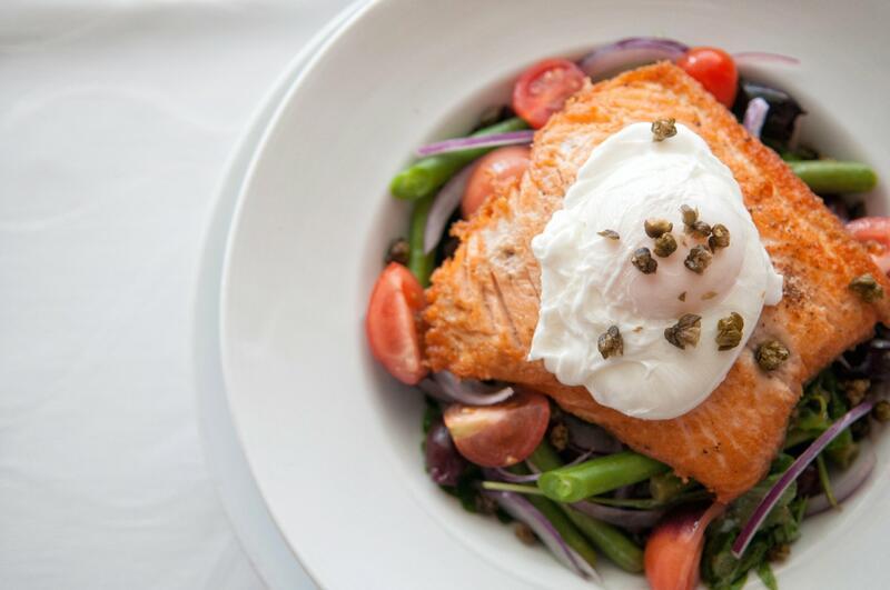 Prepared dish of salmon