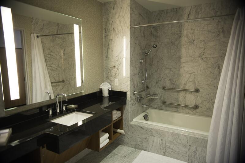 Extravagant ADA / accessible hotel bathroom