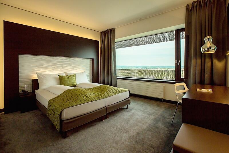 Business Room Bed at Airport Hotel Basel