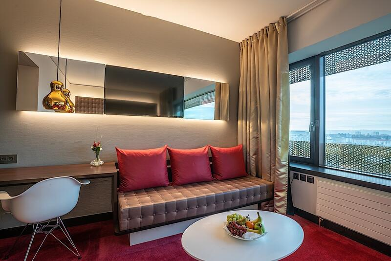 Executive Room Sofa at Airport Hotel Basel