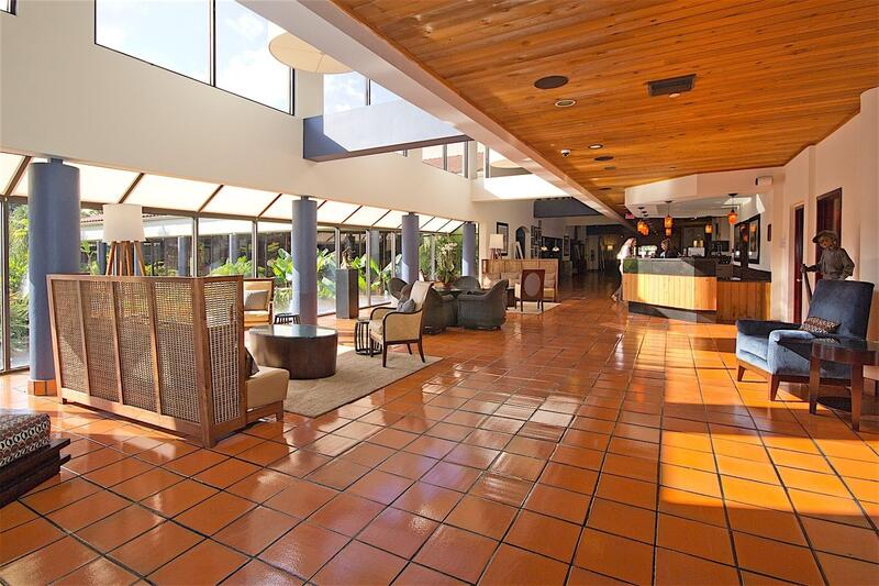 lobby with several seating areas
