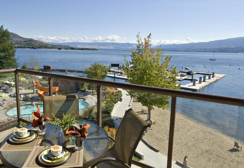 Set Table with Coffee & Marina View