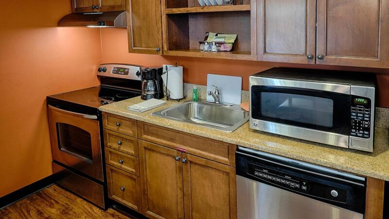 ll Suites Feature Full Kitchen with Stove and Microwave