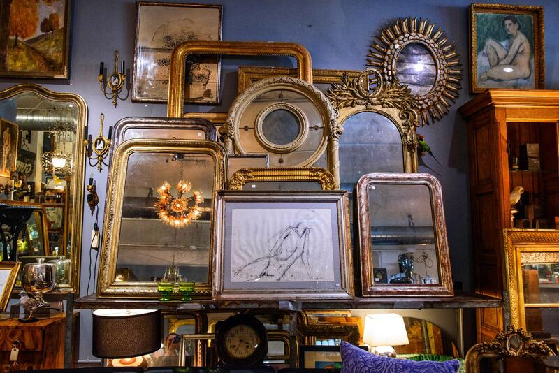 antiques in a shop