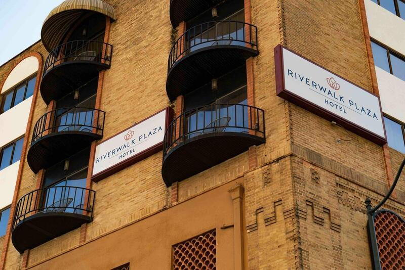 Exterior signs and balconies