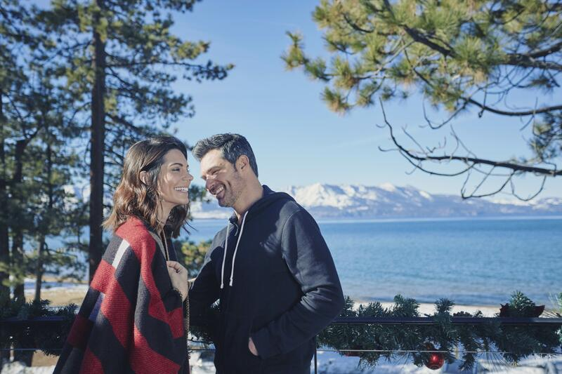 Couple with Lake Tahoe in background
