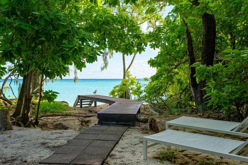 boardwalk from Beach House Heron Island Resort