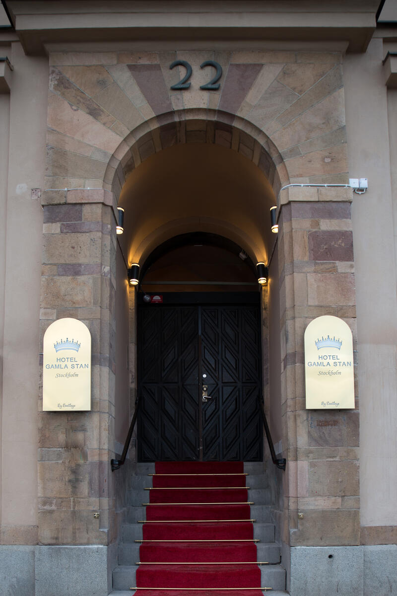 Entrance at Hotel Gamla Stan in Stockholm