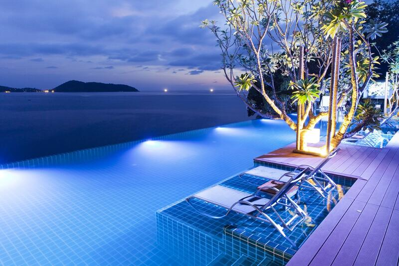 U Zenmaya Phuket Swimming Pool Evening View