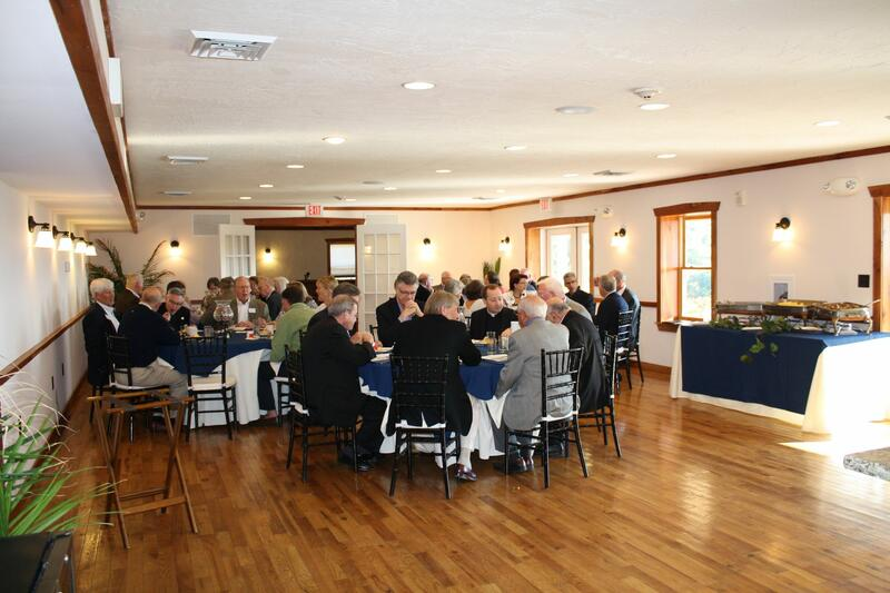 Group attending a meeting room banquet.