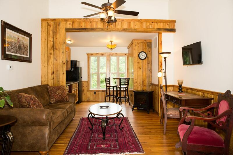 Living room of a Lodge at Gettysburg.