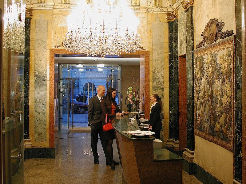 Reception at Ambassador Hotel in Vienna