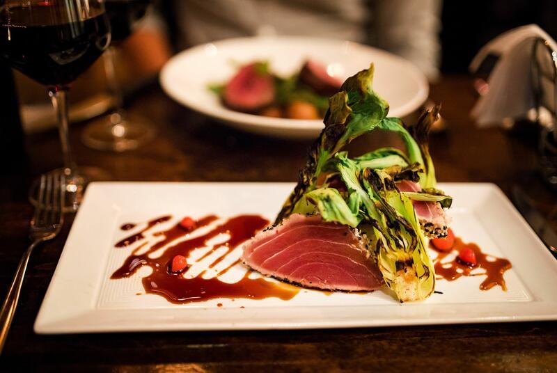 Small ahi tuna dish.