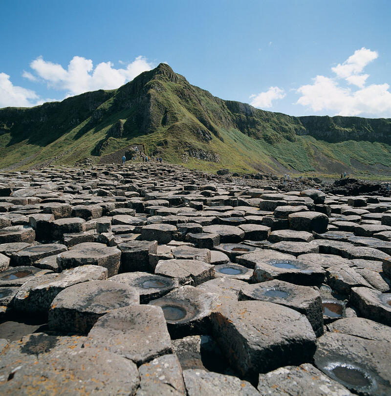 Basalt Columns At Giants Causeway Northern Ireland
