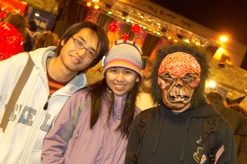 People In The Street During The Halloween Festival
