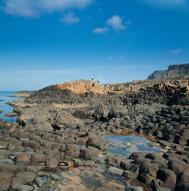 Rock Pools At The Giants Causeway