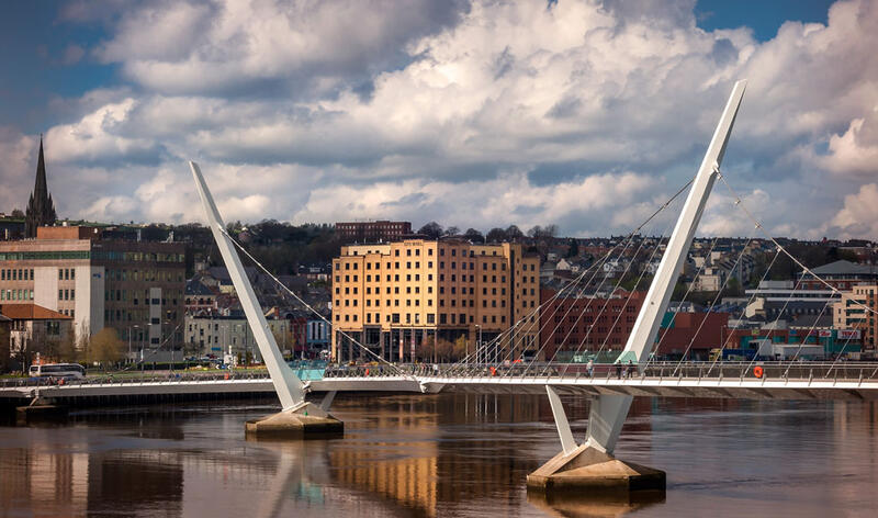 City Hotel Derry And Peace Bridge By Day
