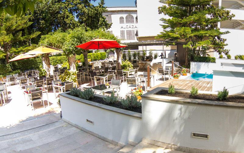 Terrace at Gran Hotel Sóller in Majorca